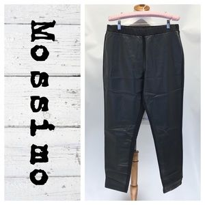 Mossimo faux leather ponte pants